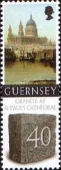 [Granite from Guernsey used for St. Paul`s Cathedral, Typ ASY]
