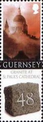 [Granite from Guernsey used for St. Paul`s Cathedral, Typ ASZ]