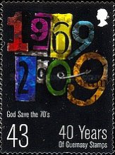 [The 40th Anniversary of the First Guernsey Postage Stamps, Typ AUN]