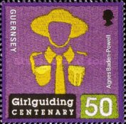 [The 100th Anniversary of Girlguiding, type AWD]