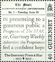 [The 200th Anniversary of The Guernsey Press And Star, Typ BAZ]