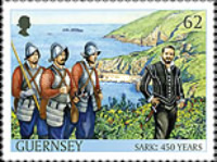 [The 450th Anniversary of the Channel Island of Sark as a Fief to the Crown, type BFB]
