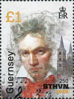 [The 250th Anniversary of the Birth of Ludwig van Beethoven, 1770-1827, Typ BOY]