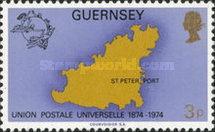 [The 100th Anniversary of The Universal Postal Union, type CG]
