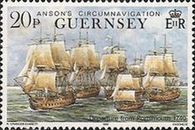 [The 250th Anniversary of Lord Ansons Circumnavigation of the Globe, Typ RD]
