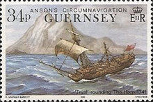 [The 250th Anniversary of Lord Ansons Circumnavigation of the Globe, Typ RF]