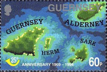 [The 25th Anniversary of Guernsey Post Office, Typ XE]