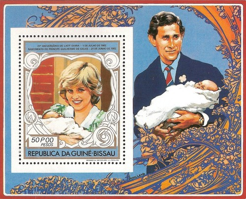 [Airmail - The 21st Anniversary of the Birth of Diana, Princess of Wales, 1961-1997, Typ ]
