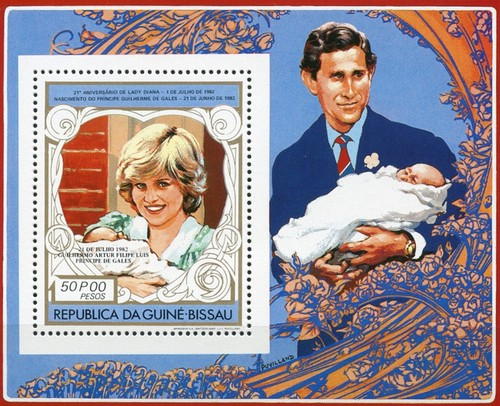 [Airmail - Birth of Prince William of Wales - Issues of 1982 Overprinted