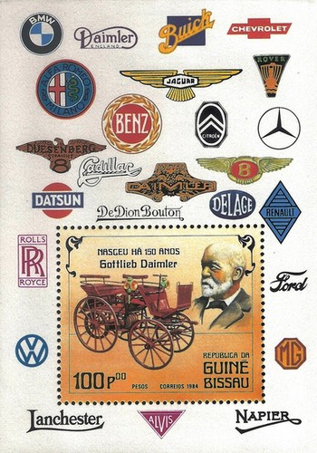 [The 150th Anniversary of the Birth of Gottlieb Daimler, Automobile Designer, 1834-1900 - Automobiles, Typ ]