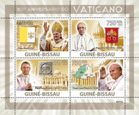 [Popes - The 80th Anniversary of the Vatican, Typ ]