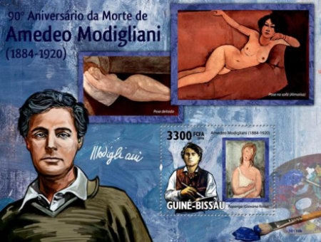 [The 90th Anniversary of the Death of Amadeo Modigliani, 1884-1920, type ]