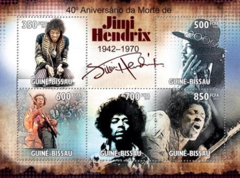 [The 40th Anniversary of the Death of Jimi Hendrix, 1942-1970, type ]