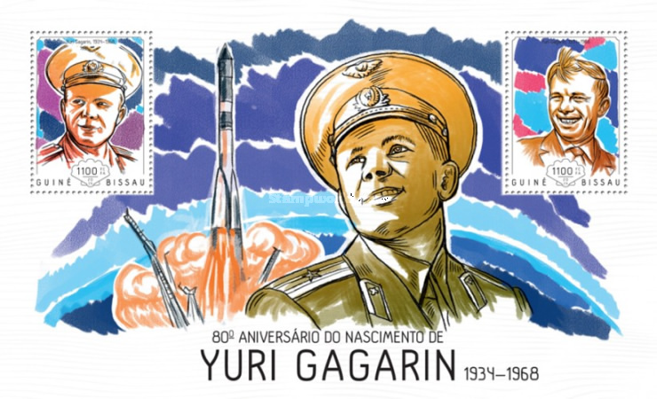 [The 80th Anniversary of the Birth of Yuri Gagarin, 1934-1968, Typ ]