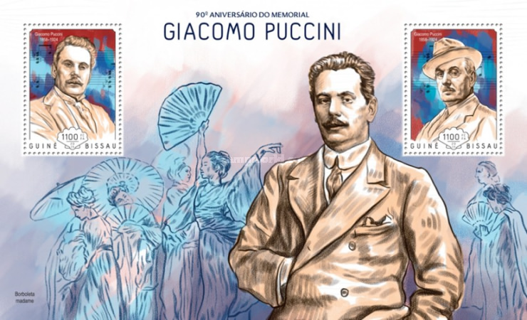 [The 90th Anniversary of the Birth of Giacomo Puccini, 1858-1924, Typ ]