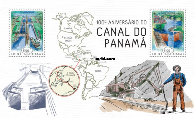 [The 100th Anniversary of the Panama Canal, Typ ]