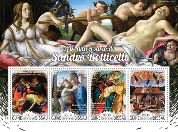 [The 570th Anniversary of the Birth of Sandro Botticelli, 1445-1510, Typ ]