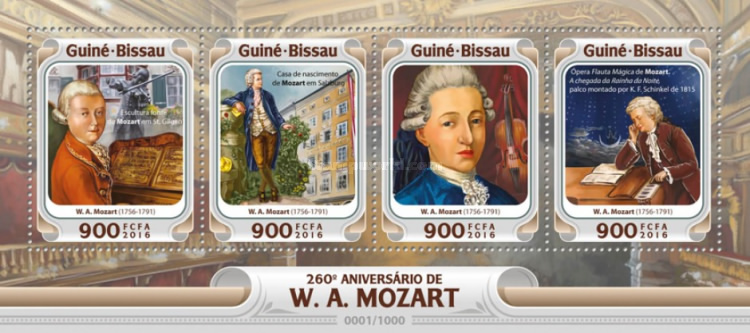 [The 160th Anniversary of the Birth of Wolfgang Amadeus Mozart, 1756-1791, Typ ]