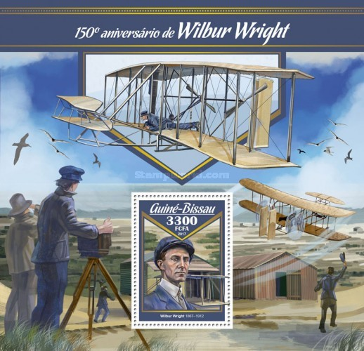 [Transportation - The 150th Anniversary of the Birth of Wilbur Wright, 1967-1912, Typ ]