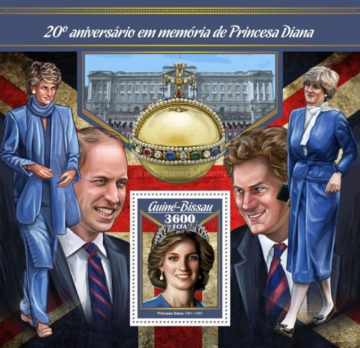 [The 20th Aniversary of the Death of Princess Diana, 1961-1997, Typ ]