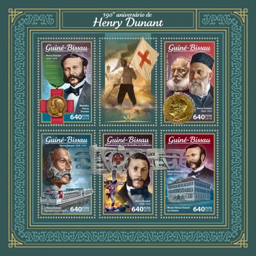 [The 190th Anniversary of the Birth of Henry Dunant, 1828-1910, type ]