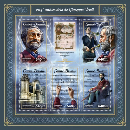 [The 205th Anniversary of the Birth of Giuseppe Verdi, 1813-1901, Typ ]