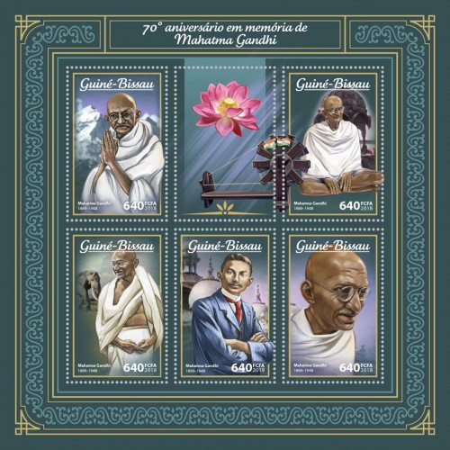 [The 70th Anniversary of the Death of Mahatma Gandhi, 1869-1948, Typ ]