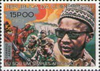 [Airmail - The 4th Anniversary of the Death of Amilcar Cabral, 1924-1973 - Previous Issue Surcharged, type AZ1]
