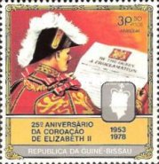 [The 25th Anniversary of Coronation of Queen Elizabeth II, type DE]