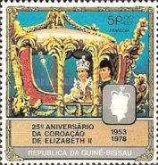 [The 25th Anniversary of Coronation of Queen Elizabeth II, type DF]
