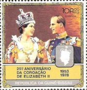 [The 25th Anniversary of Coronation of Queen Elizabeth II, type DG]