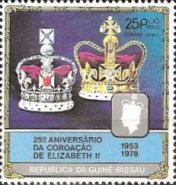 [The 25th Anniversary of Coronation of Queen Elizabeth II, type DI]
