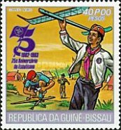 [The 75th Anniversary of Boy Scout Movement, Typ HW]