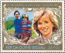 [The 21st Anniversary of the Birth of Diana, Princess of Wales, 1961-1997, Typ IJ]