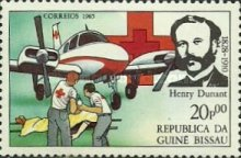 [The 75th Anniversary of the Death of Henri Dunant, Founder of Red Cross, 1828-1910, type QI]