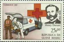 [The 75th Anniversary of the Death of Henri Dunant, Founder of Red Cross, 1828-1910, type QJ]