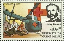[The 75th Anniversary of the Death of Henri Dunant, Founder of Red Cross, 1828-1910, type QK]