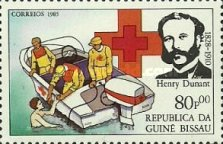 [The 75th Anniversary of the Death of Henri Dunant, Founder of Red Cross, 1828-1910, type QL]