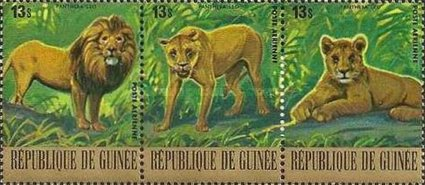 [Airmail - Endangered Animals - Lion, Typ ]