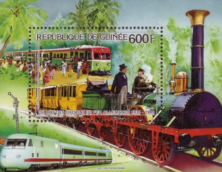 [Airmail - The 150th Anniversary of Trains in Germany, Typ ]