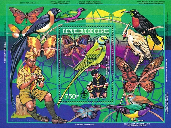 [Airmail - Scouts, Birds and Butterflies, Typ ]