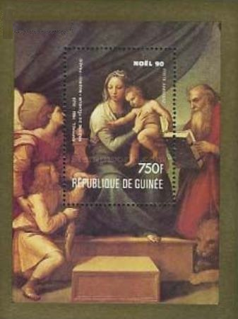 [Airmail - Christmas (1990) - Paintings by Raphael, Typ ]