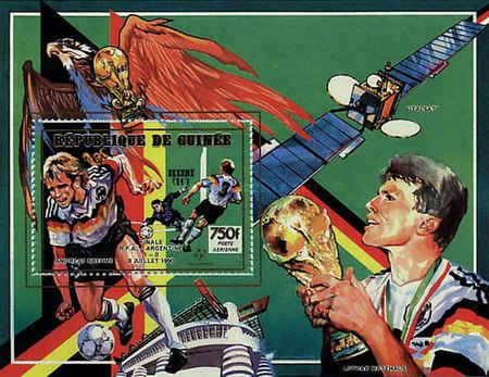 [Airmail - West Germany, 1990 Football World Cup Champion - West German Players and Goals Scored, Typ ]