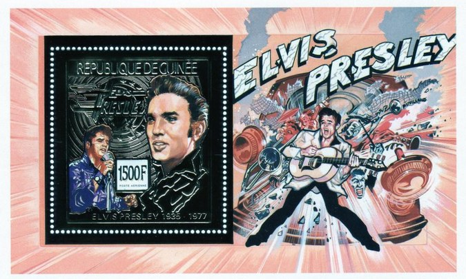 [Airmail - The 15th Anniversary of the Death of Elvis Presley, 1935-1977, Typ ]