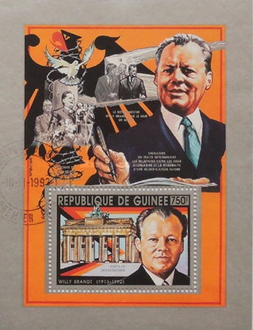 [The 1st Anniversary of the Death of Willy Brandt, 1913-1992, Typ ]
