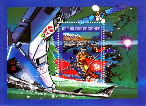 [Airmail - Winter Olympic Games - Albertville, USA - Gold Medal Winners - Issues of 1990 variously Overprinted, Typ ]