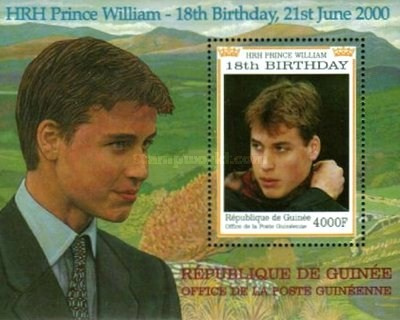 [The 18th Anniversary of the Birth of Prince William of England, Typ ]