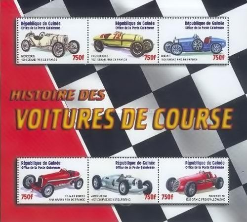 [History of Race Cars, Typ ]