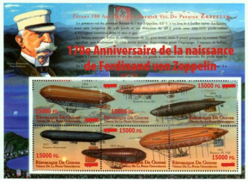 [First Zeppelin Flight - Surcharged & Overprinted