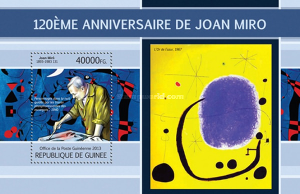 [The 120th Anniversary of the Birth of Joan Miró, 1893-1983, type ]